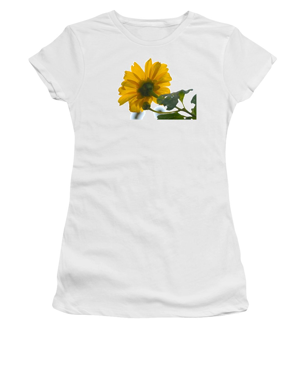 Flower Women's T-Shirt (Athletic Fit) featuring the painting Yellow Light by David Lee Thompson