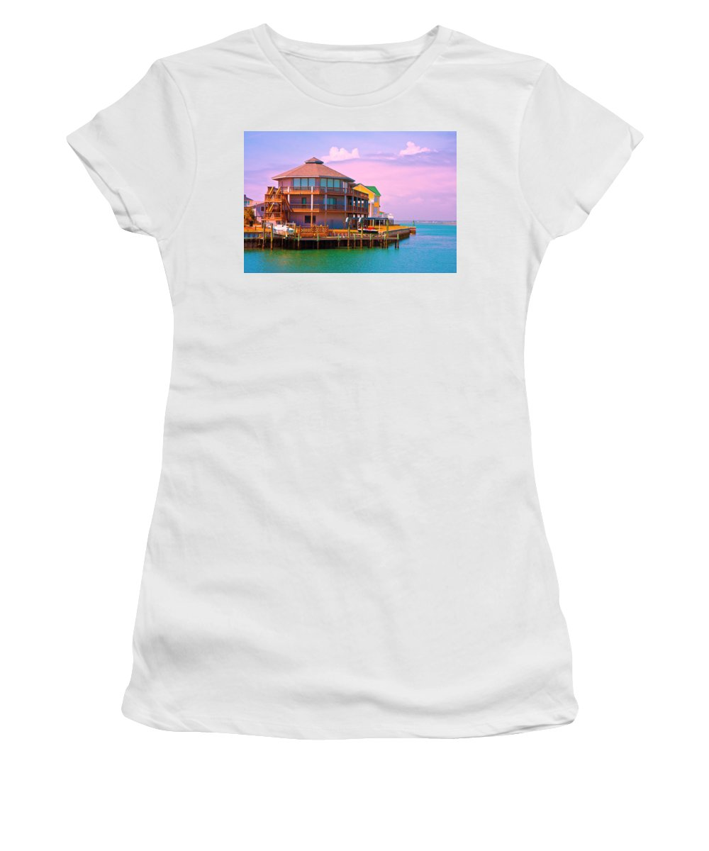 Beach Women's T-Shirt featuring the photograph You Should See The Sunset by Betsy Knapp