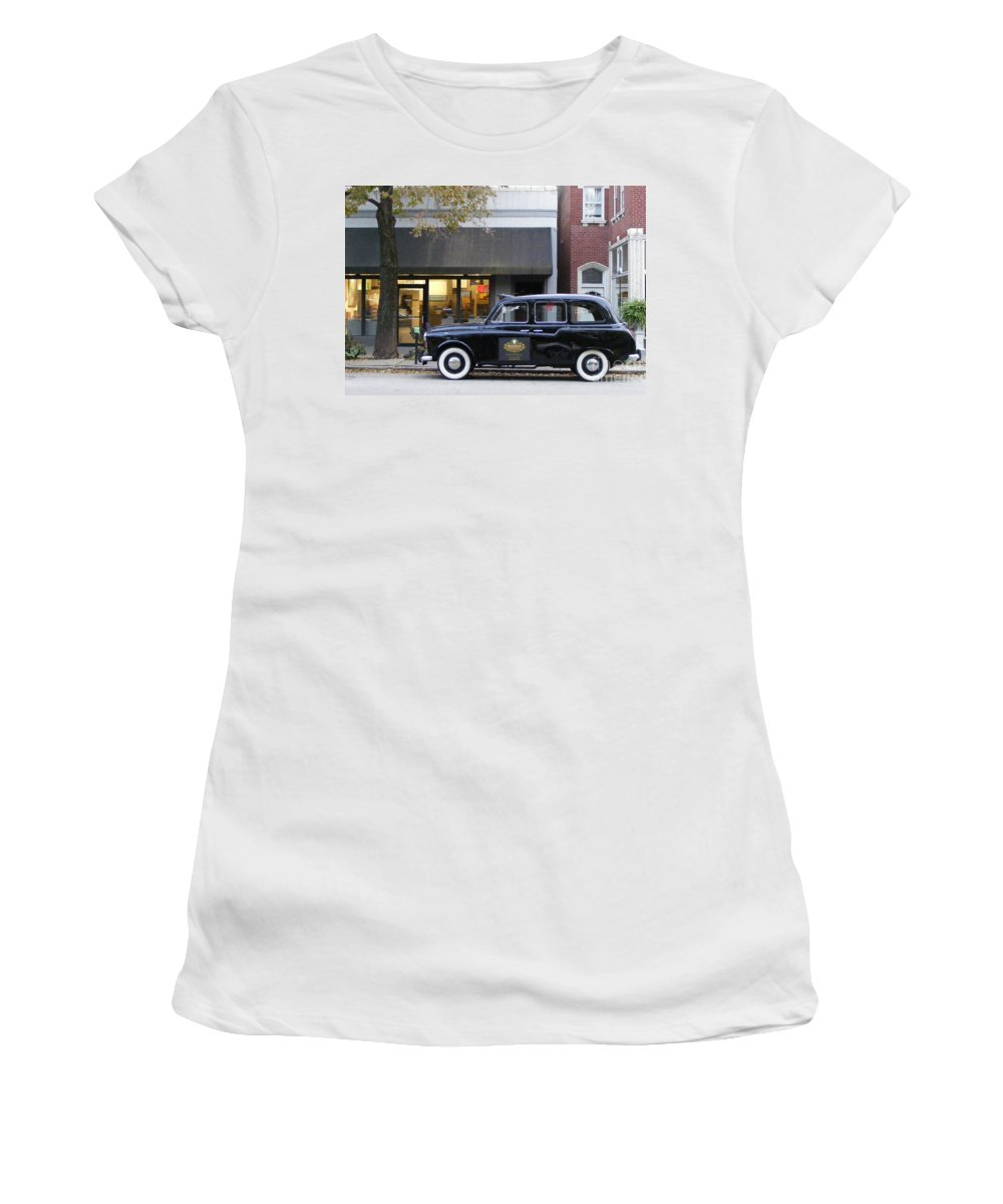 Photography Women's T-Shirt (Athletic Fit) featuring the photograph Your Cab Just Arrived by Nancy Kane Chapman