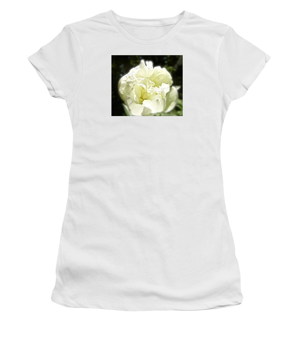 White Blossom Women's T-Shirt featuring the photograph Your World For A Moment by Elizabeth Tillar