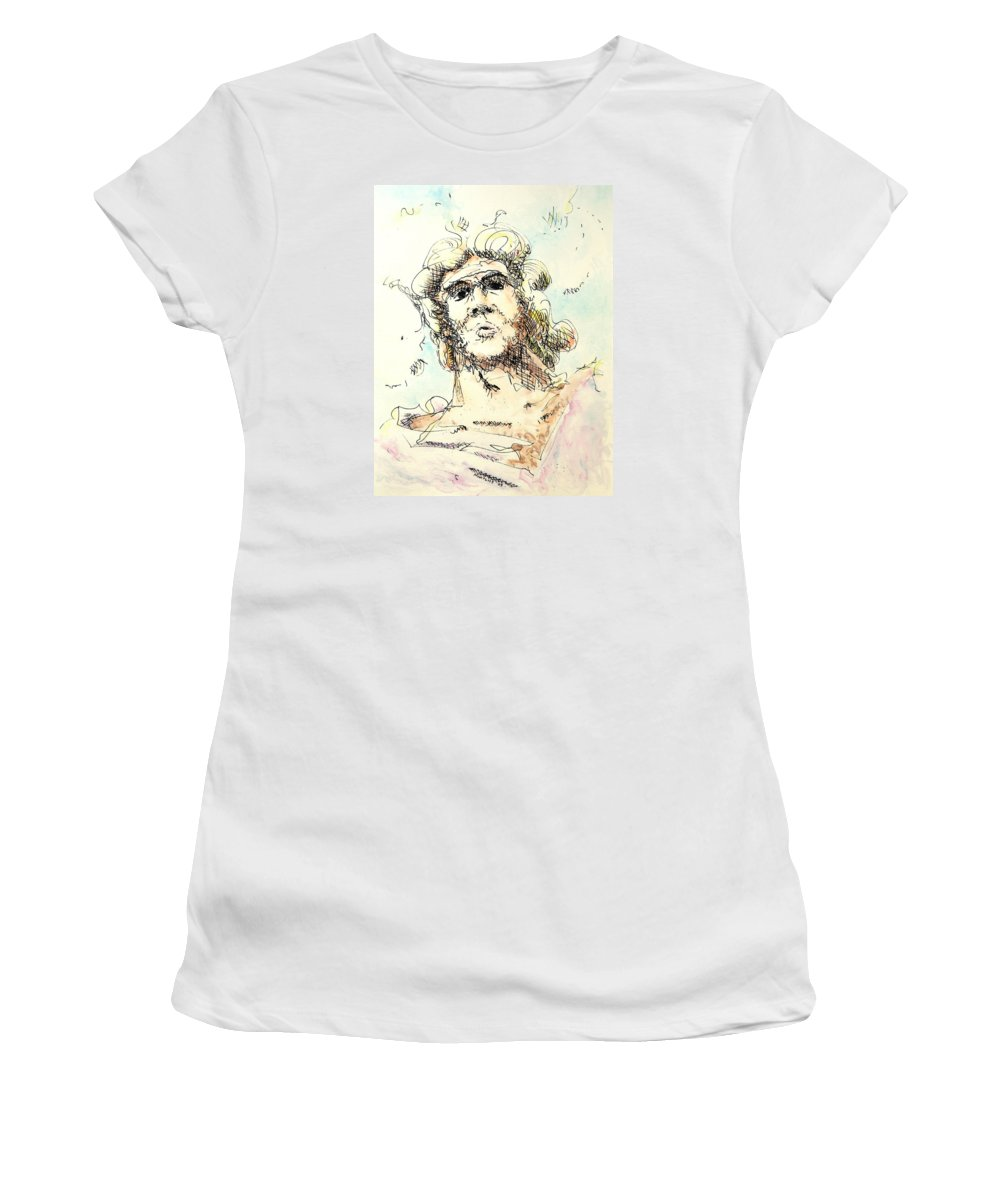 Zeus Women's T-Shirt (Athletic Fit) featuring the painting Zeus by Dave Martsolf