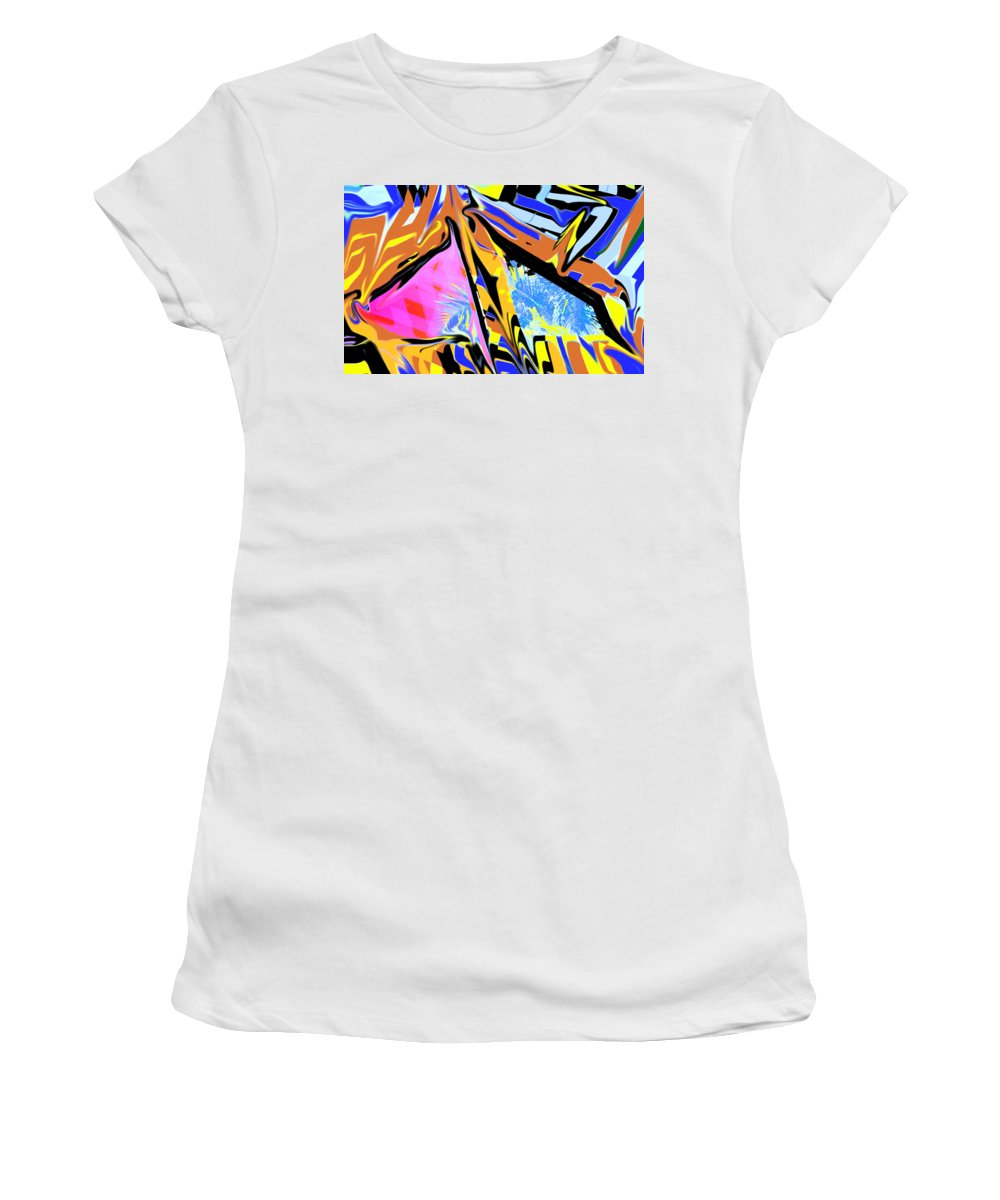 Abstract Women's T-Shirt (Athletic Fit) featuring the digital art Zulu by Ian MacDonald