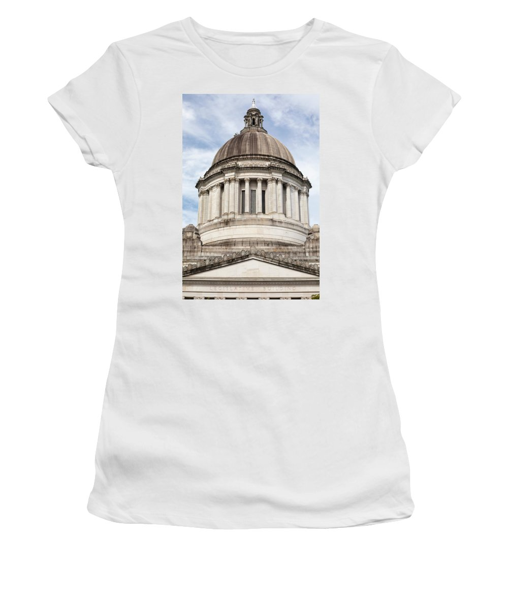 Photography Women's T-Shirt featuring the photograph Legislative Building, Olympia by Panoramic Images
