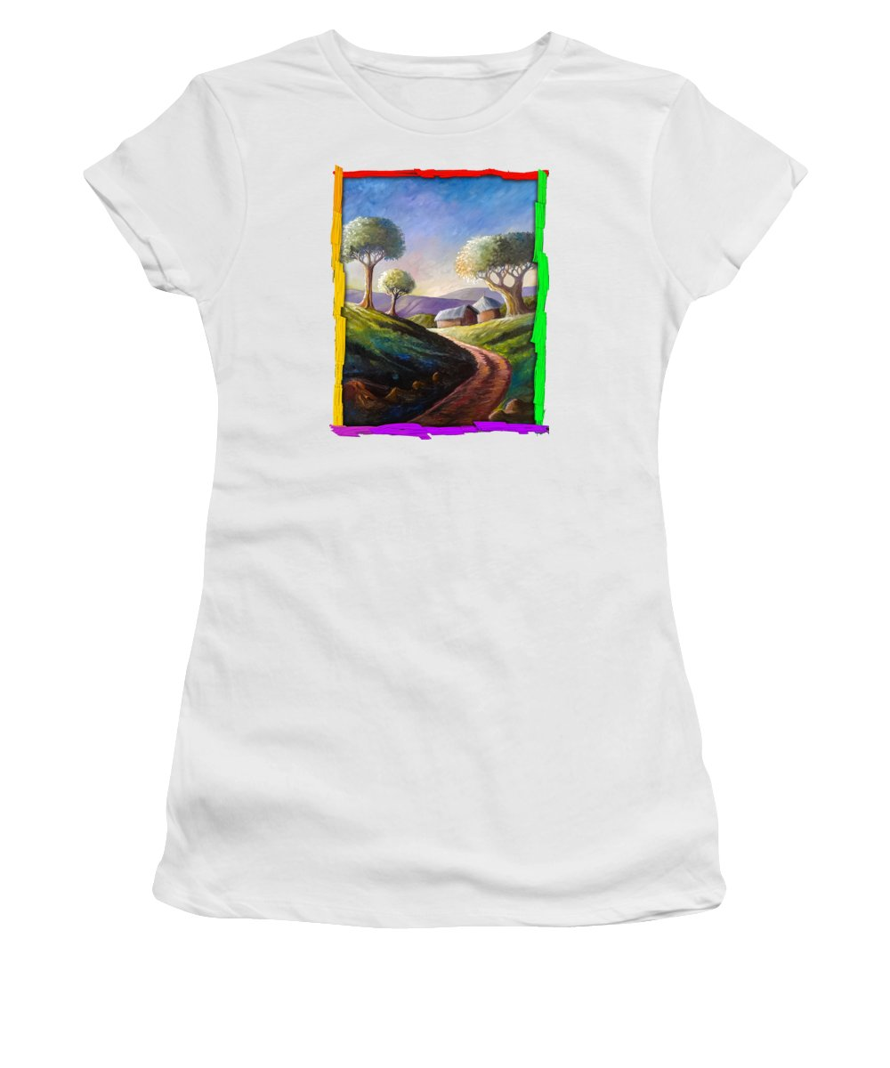 Thatched Roof Paintings Women's T-Shirts