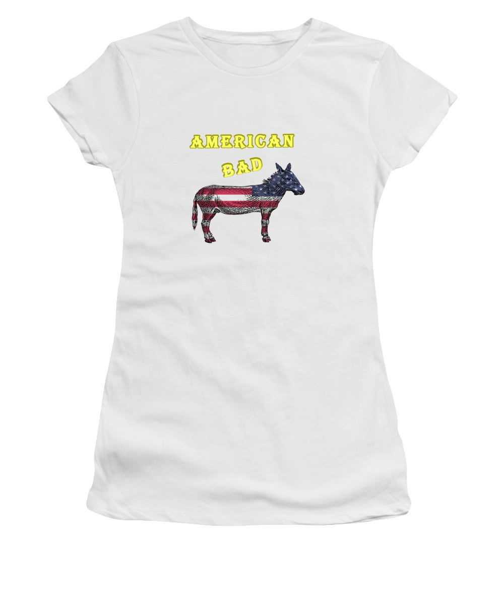 American Women's T-Shirt featuring the digital art American Bad Ass by John Da Graca