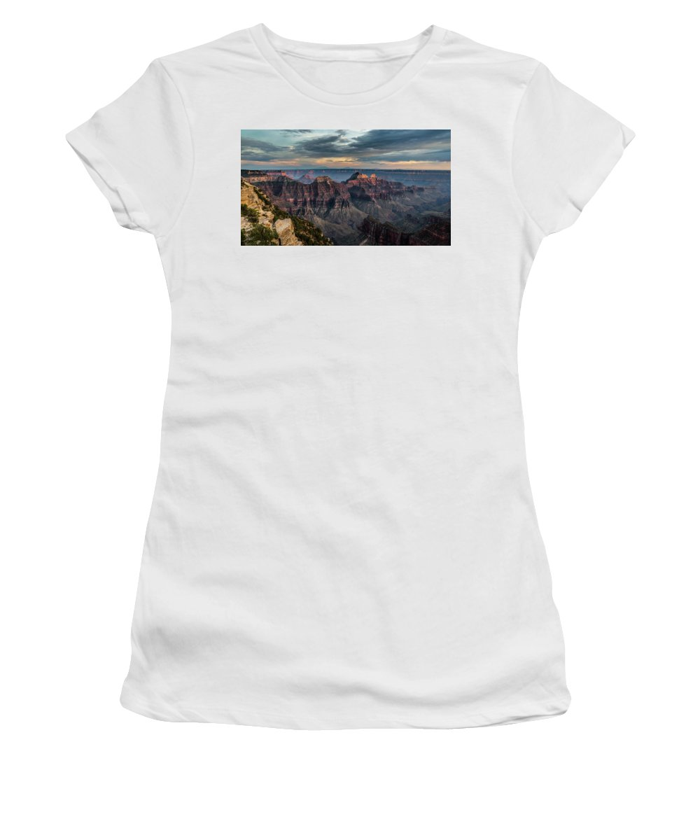 Peak Women's T-Shirt featuring the photograph Angel Point by Ian Stotesbury