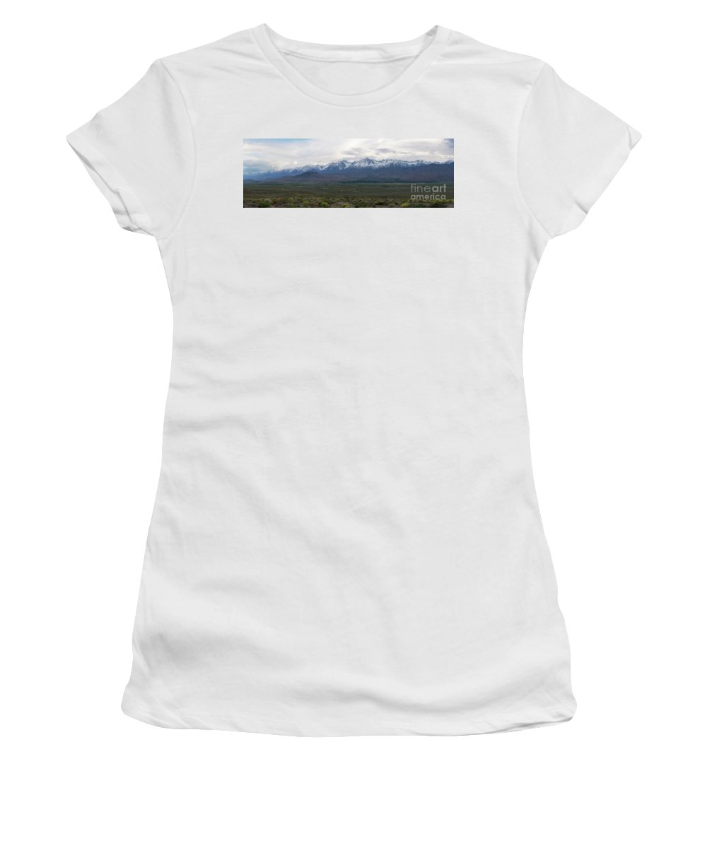 Owens Valley Women's T-Shirt featuring the photograph Big Pine California Overlook by Michael Ver Sprill