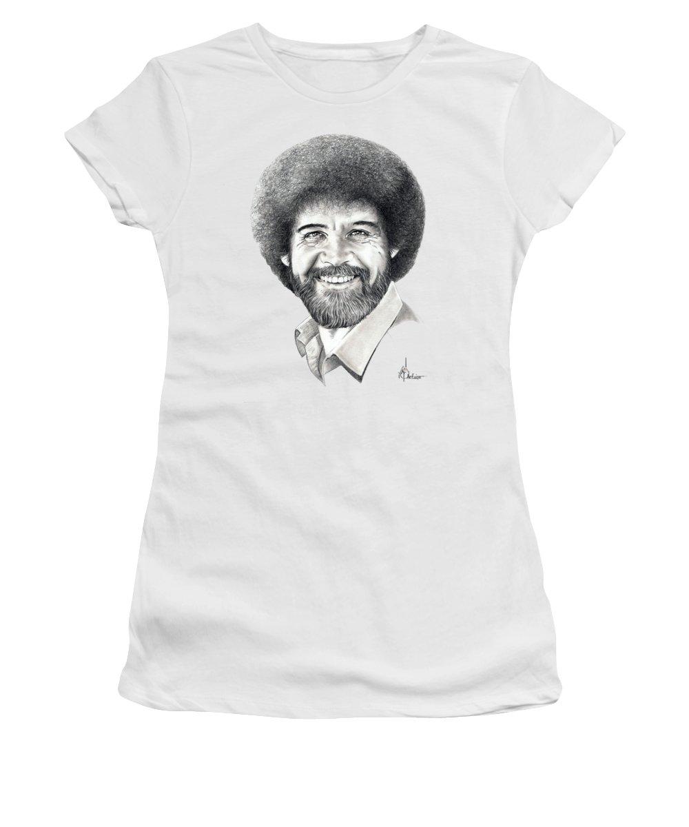 06dd38f5 Bob Ross Women's T-Shirt for Sale by Murphy Elliott