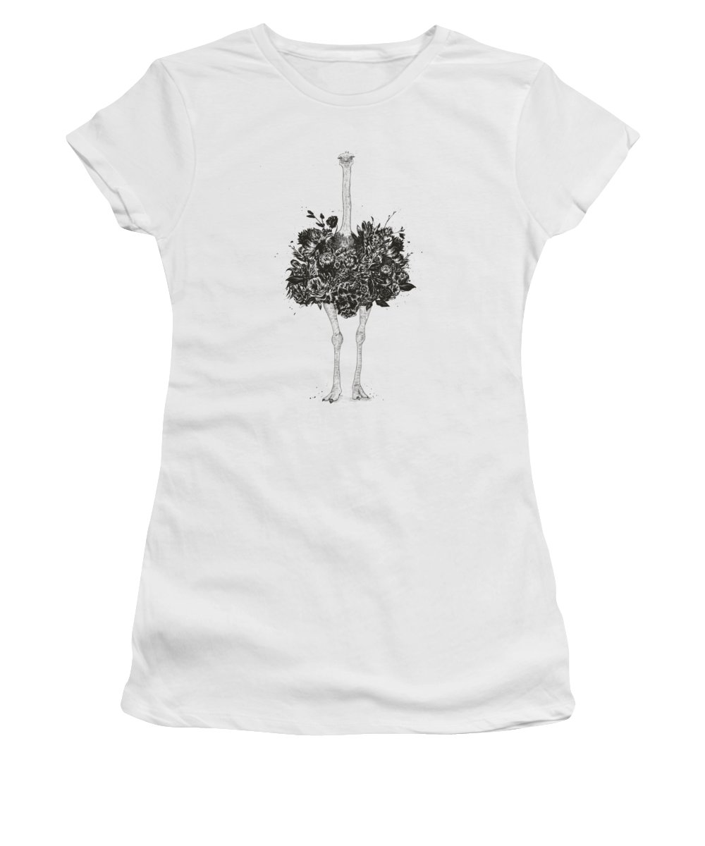 Black And White Nature Drawings Women's T-Shirts
