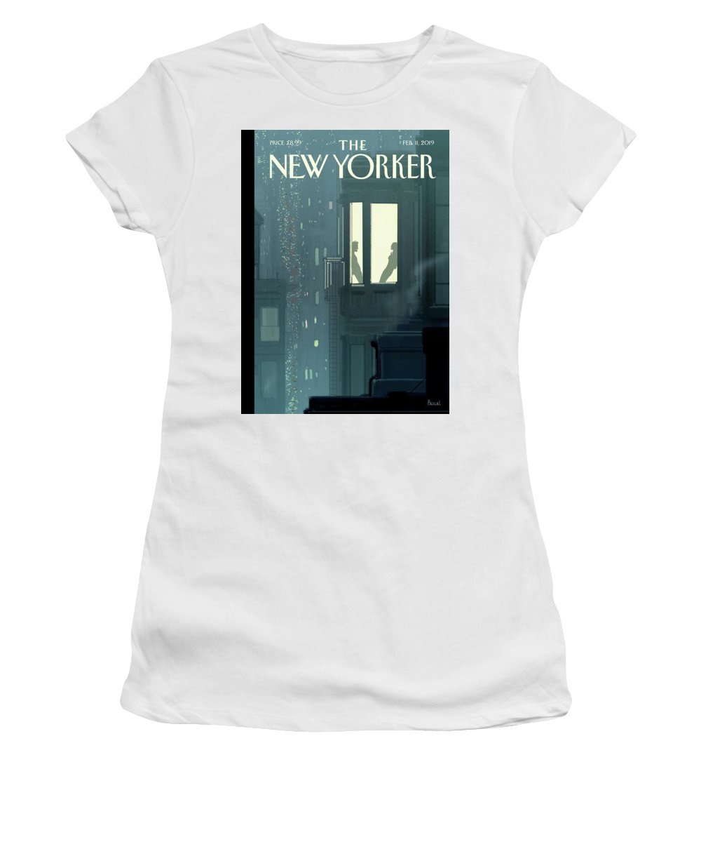 Love Interest Women's T-Shirt featuring the painting Love Interest by Pascal Campion