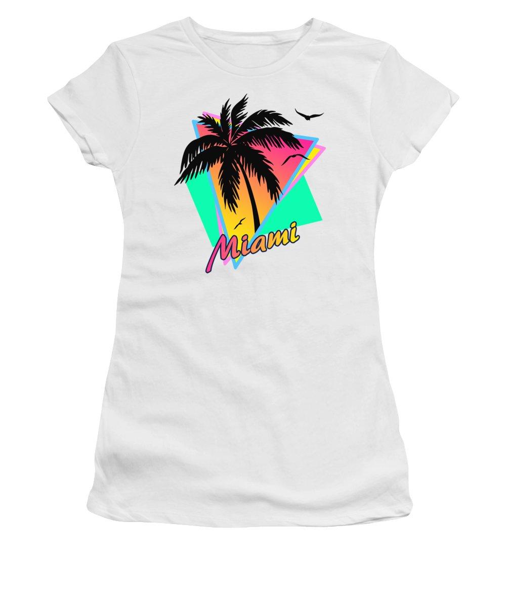 Miami Women's T-Shirt featuring the digital art Miami by Filip Schpindel