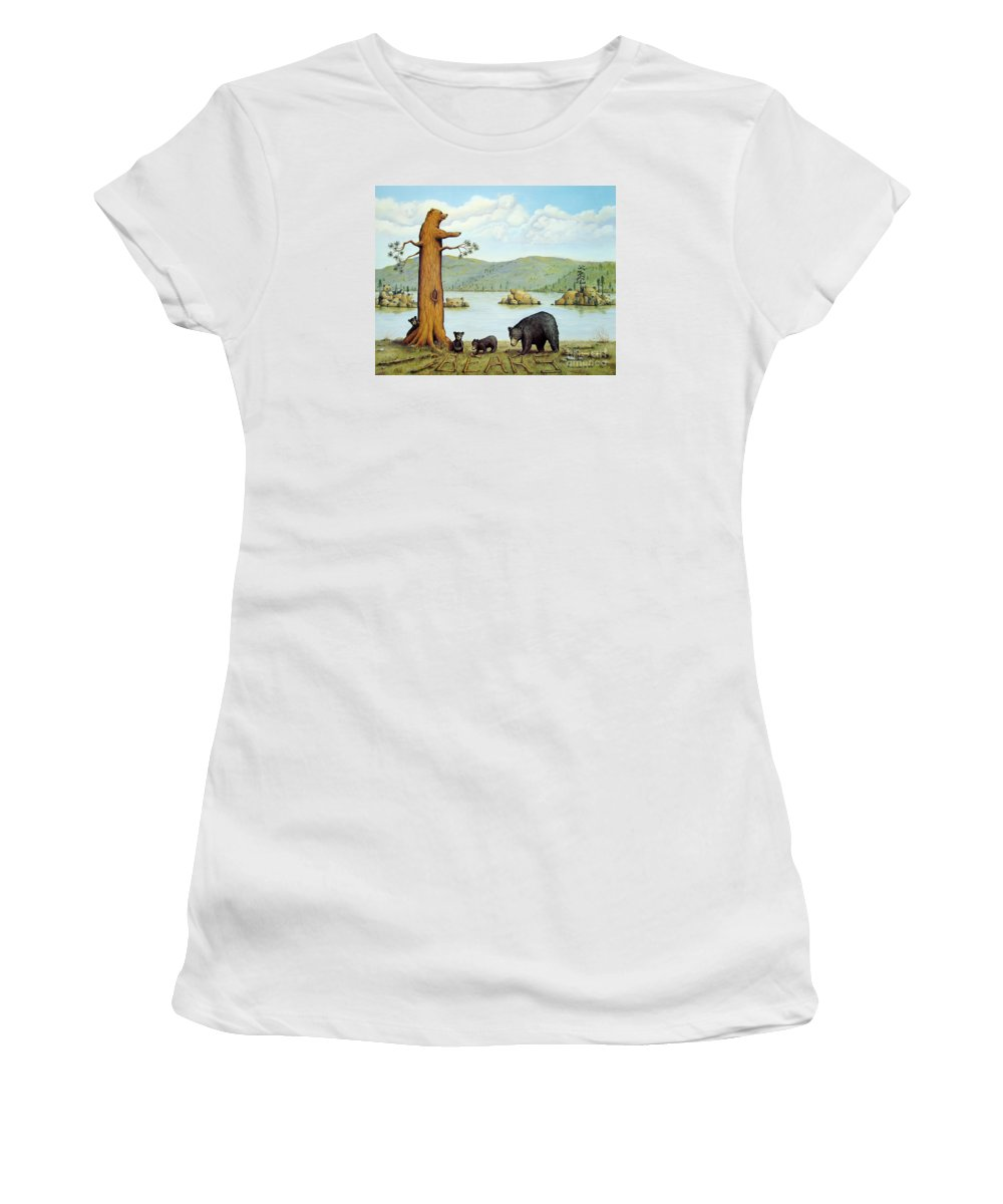 Bears Women's T-Shirt featuring the painting 27 Bears by Jerome Stumphauzer