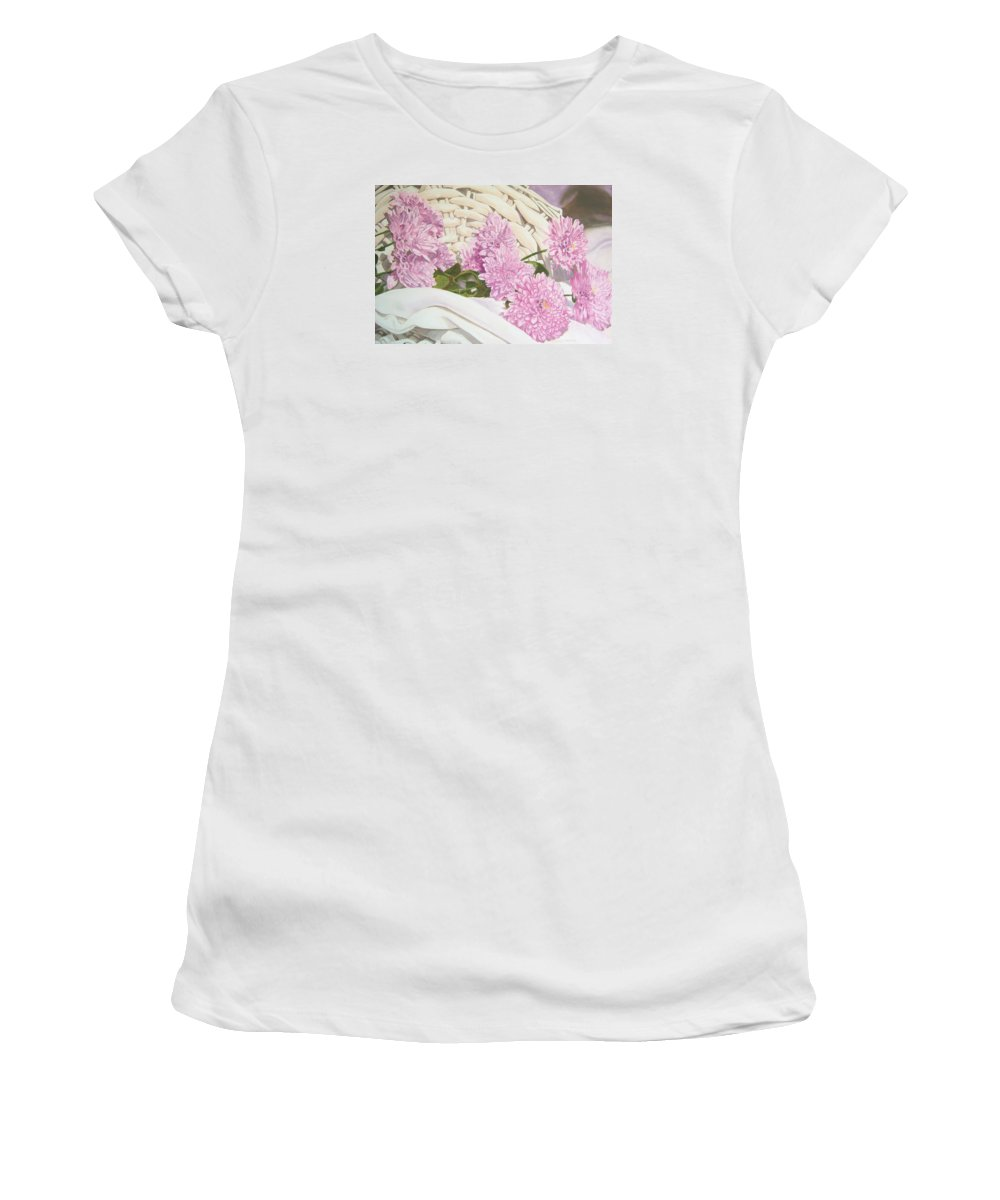 Fine Art Print Women's T-Shirt featuring the painting Floral Art Print For Sale Still Life Oil Painting by Diane Jorstad