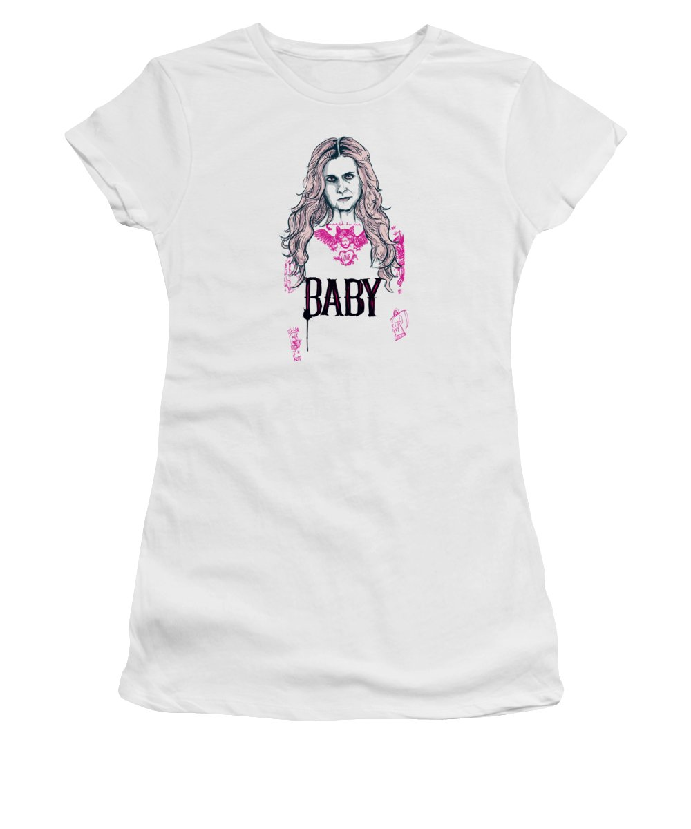 Baby Women's T-Shirt featuring the drawing Baby Firefly by Ludwig Van Bacon