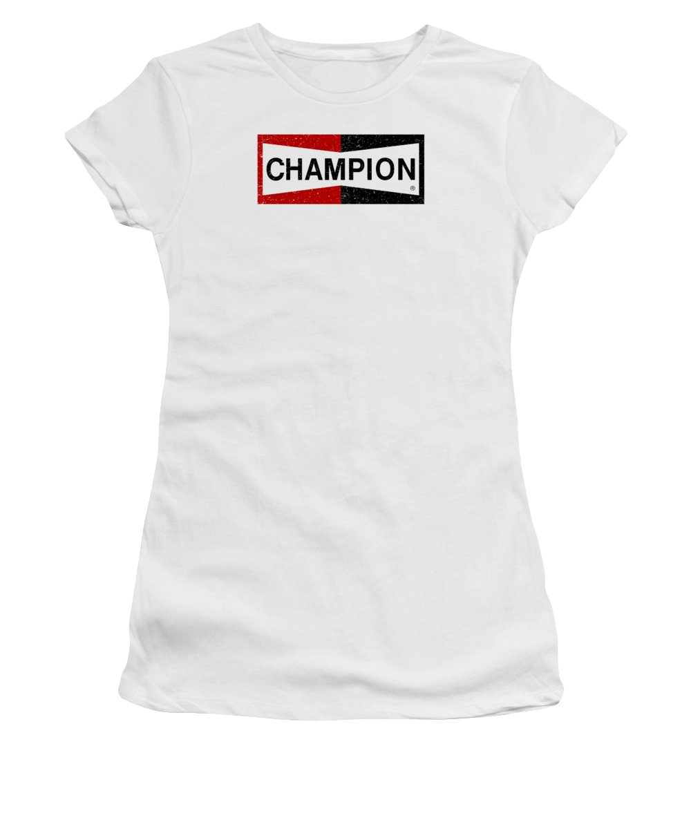 Champion Logo Women's T-Shirt featuring the digital art Champion Vintage by Susan Stevensonn