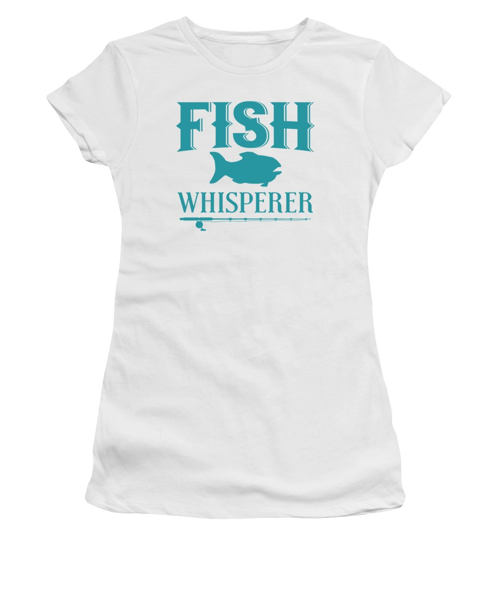 Funny Fishing Women's T-Shirt featuring the digital art Fish Whisperer by Passion Loft