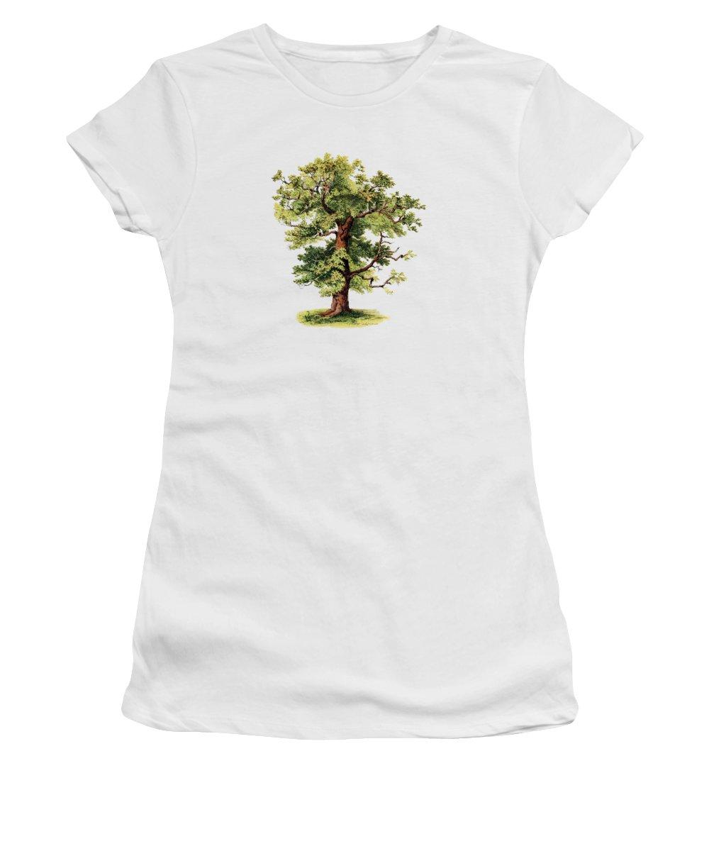 Oak Women's T-Shirt featuring the digital art Green Strength by Madame Memento