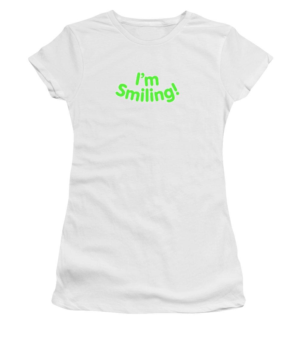 Colorado Women's T-Shirt featuring the digital art I'm Smiling by Pam Roth O'Mara