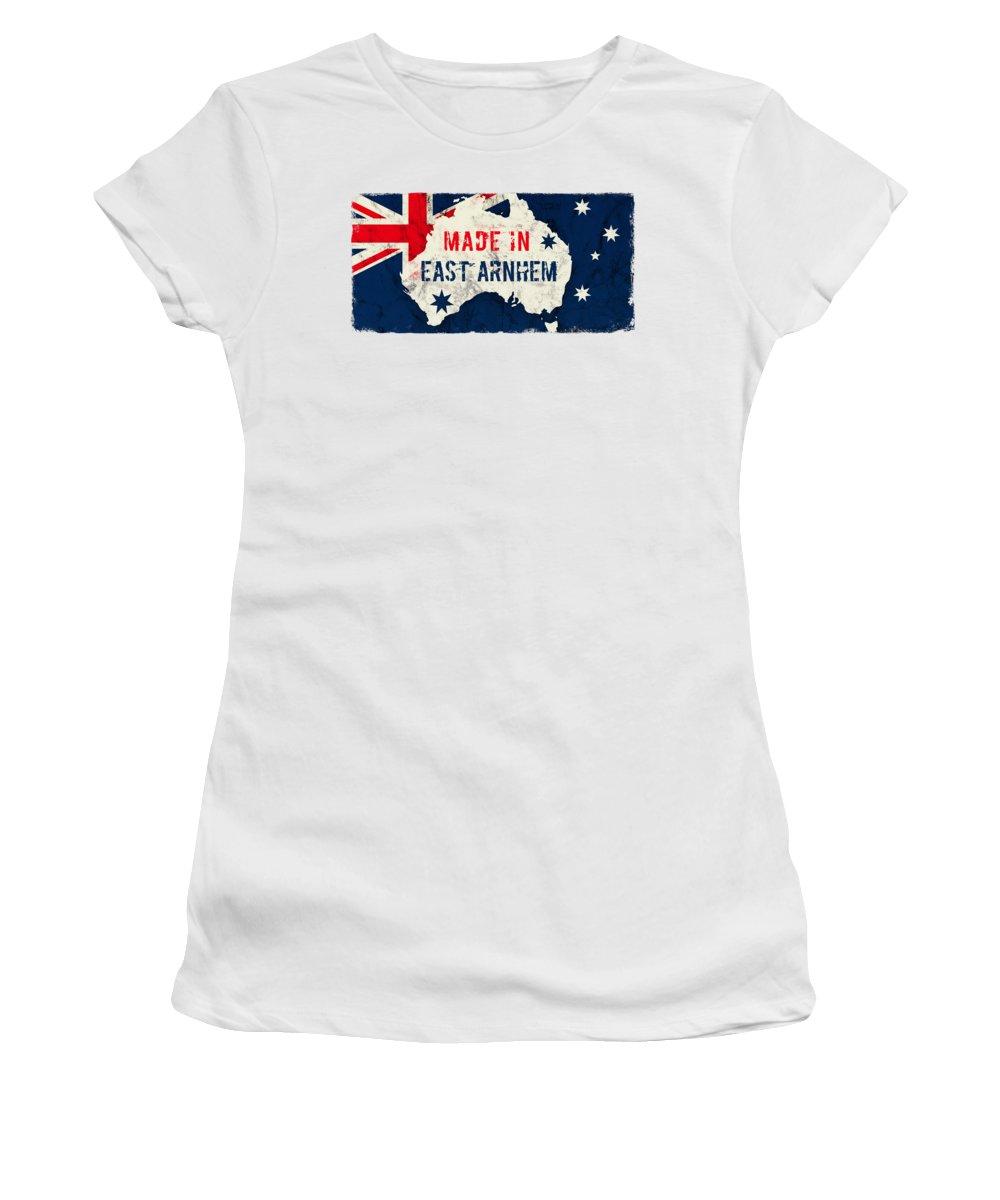 East Arnhem Women's T-Shirt featuring the digital art Made In East Arnhem, Australia by TintoDesigns