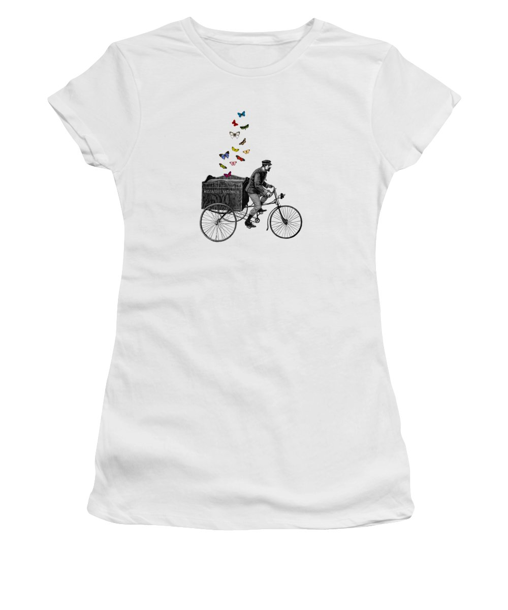 Postman Women's T-Shirt featuring the digital art Special Delivery by Madame Memento