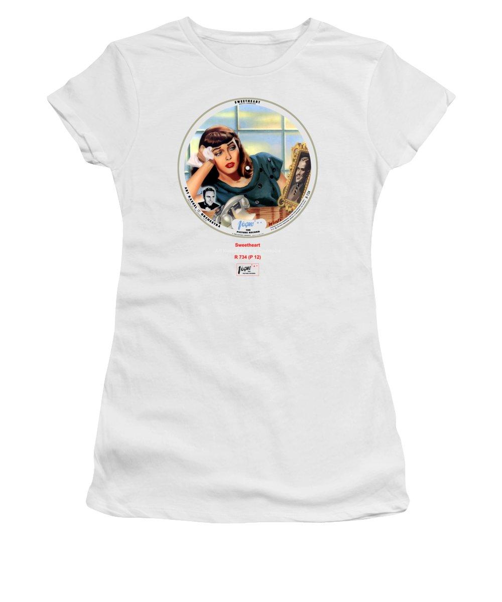 Vogue Picture Record Women's T-Shirt featuring the digital art Vogue Record Art - R 734 - P 12 by John Robert Beck