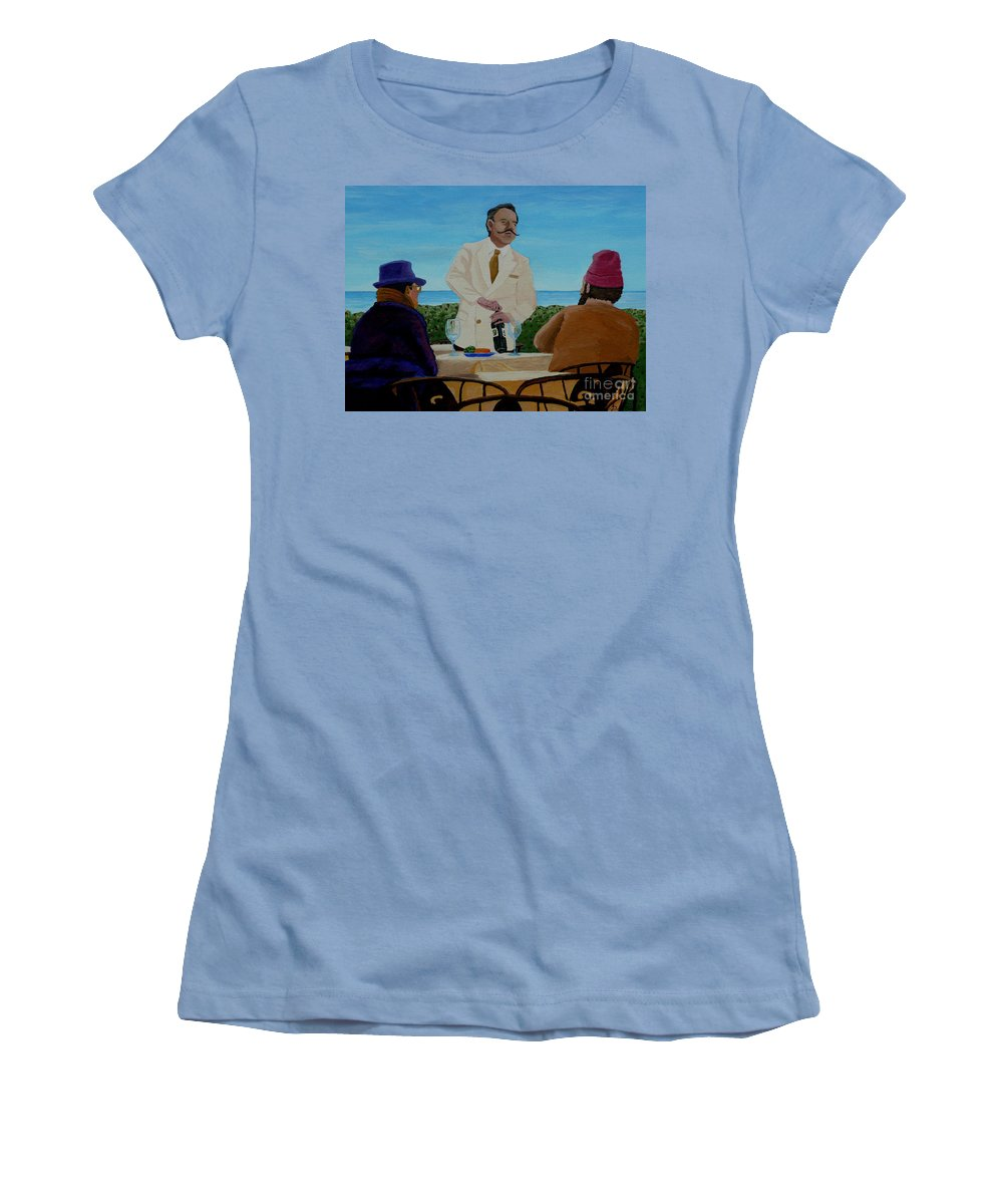 Wine Women's T-Shirt (Athletic Fit) featuring the painting A Fresh Bottle by Anthony Dunphy