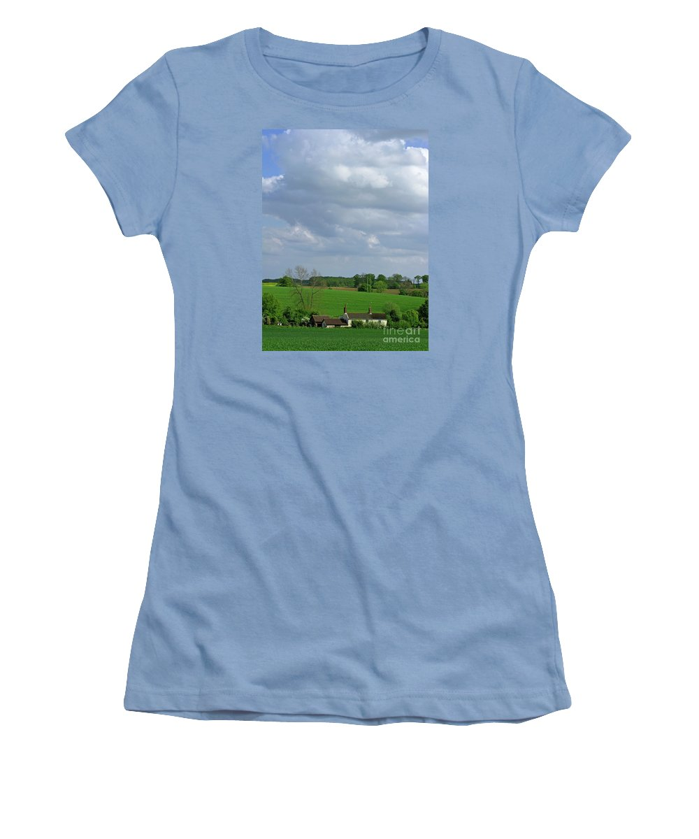 Sky Women's T-Shirt (Athletic Fit) featuring the photograph Big Suffolk Sky by Ann Horn