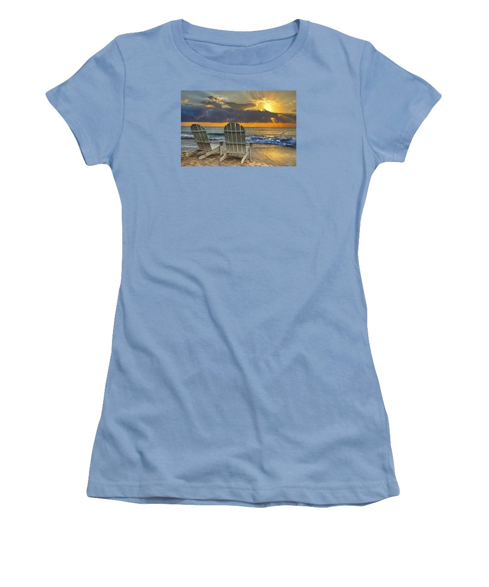 Zen Women's T-Shirt (Athletic Fit) featuring the photograph In The Spotlight by Debra and Dave Vanderlaan