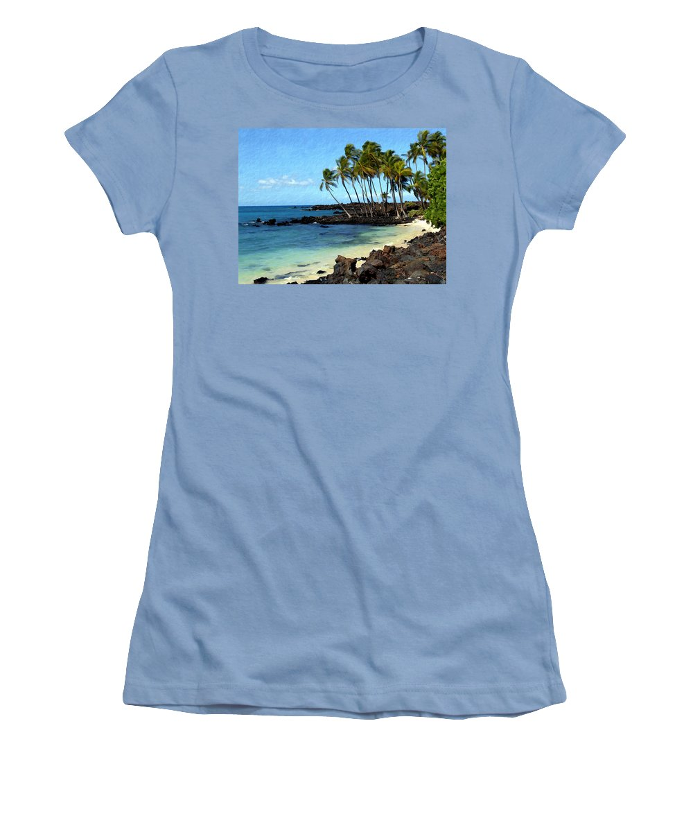 Hawaii Women's T-Shirt (Athletic Fit) featuring the photograph Kekaha Kai II by Kurt Van Wagner