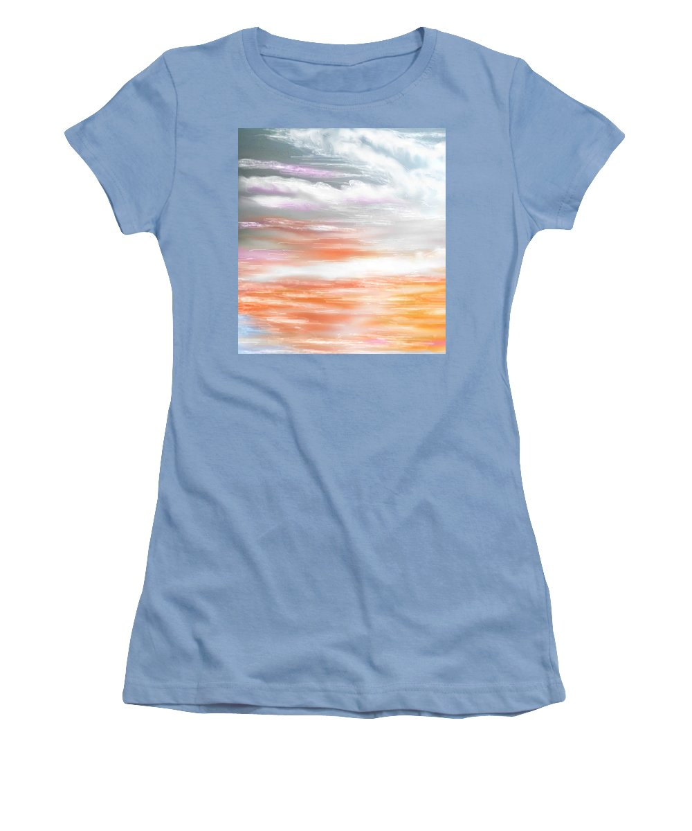 Inspirational Art Women's T-Shirt (Athletic Fit) featuring the digital art A Light Unto My Path by Brenda L Spencer