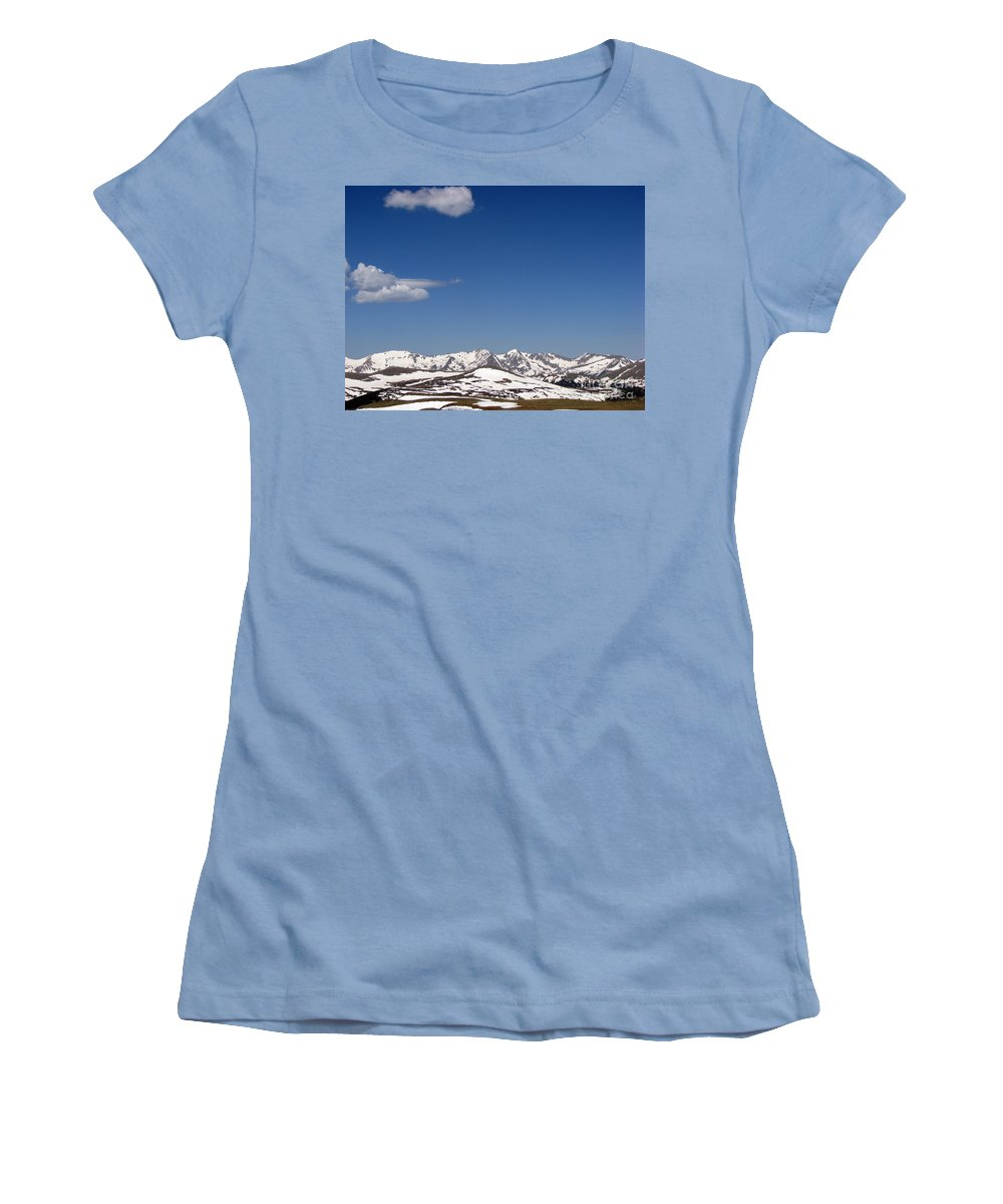 Mountains Women's T-Shirt (Athletic Fit) featuring the photograph Alpine Tundra Series by Amanda Barcon