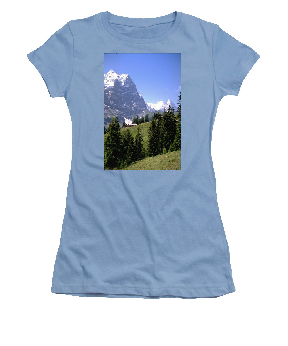 Alps Women's T-Shirt (Athletic Fit) featuring the photograph Alps by Flavia Westerwelle