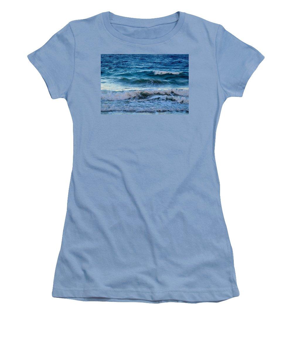 Sea Women's T-Shirt (Athletic Fit) featuring the photograph An Unforgiving Sea by Ian MacDonald