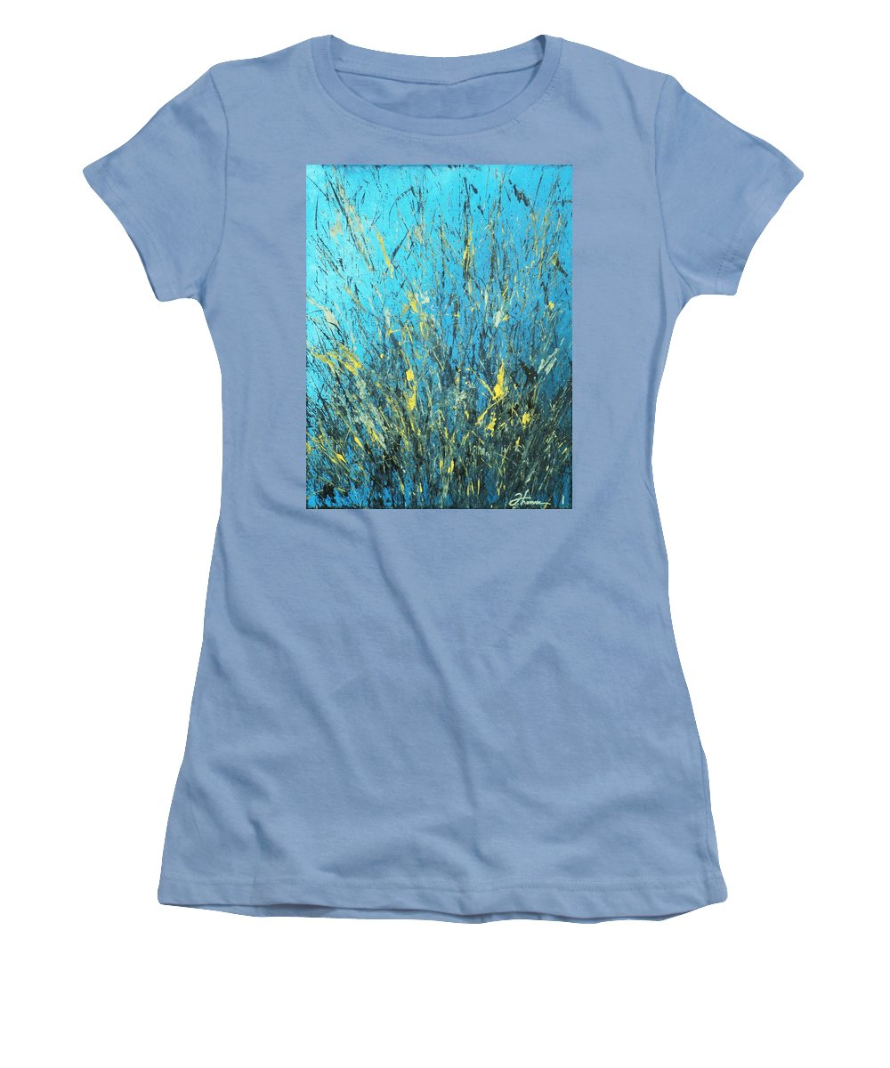 Splash Women's T-Shirt (Athletic Fit) featuring the painting Awakening by Todd Hoover