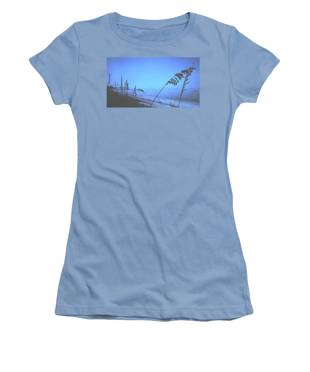 Women's T-Shirt (Athletic Fit) featuring the photograph Bahama Blue by Ian MacDonald