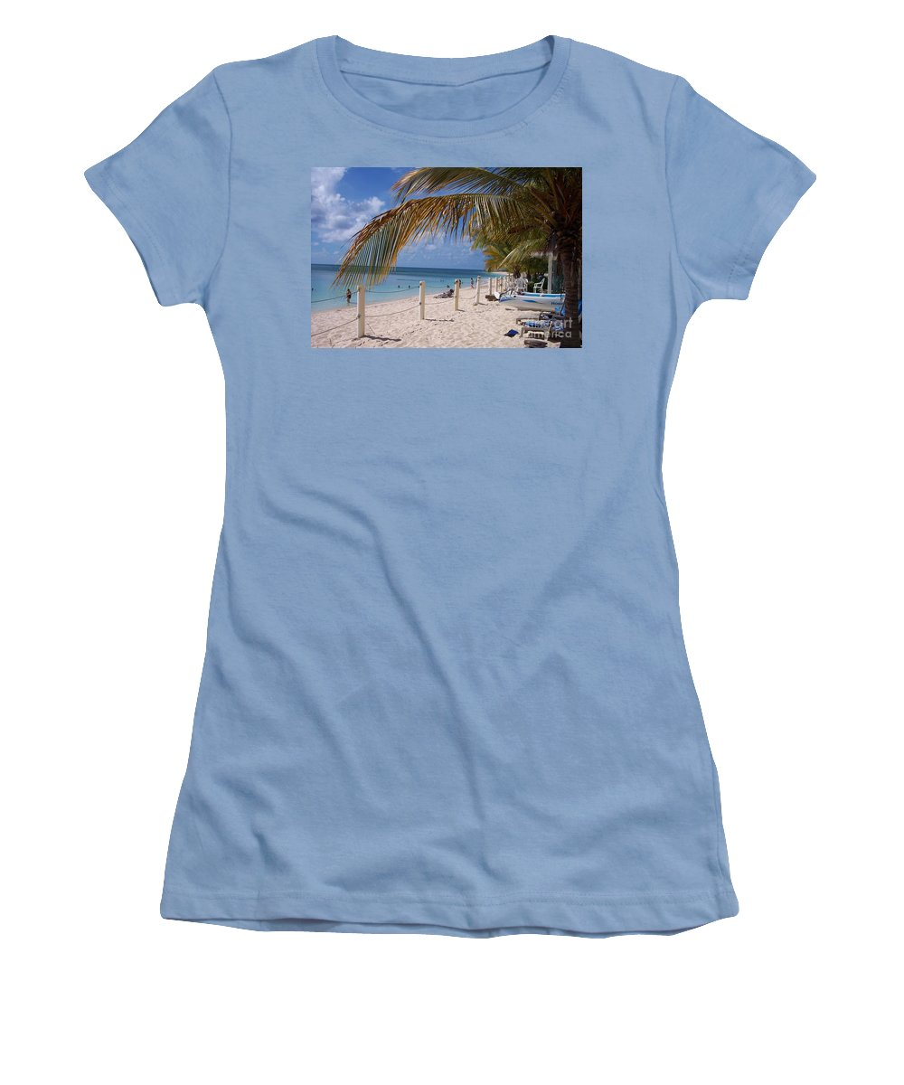 Beach Women's T-Shirt (Athletic Fit) featuring the photograph Beach Grand Turk by Debbi Granruth