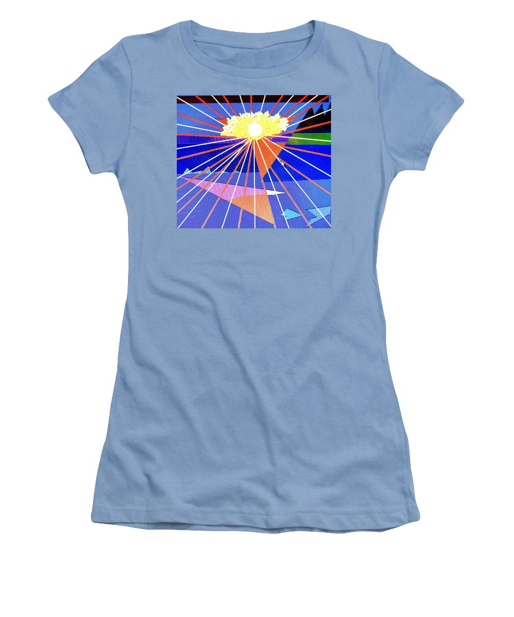 Sunset Women's T-Shirt (Athletic Fit) featuring the digital art Bermuda Sunset by Ian MacDonald