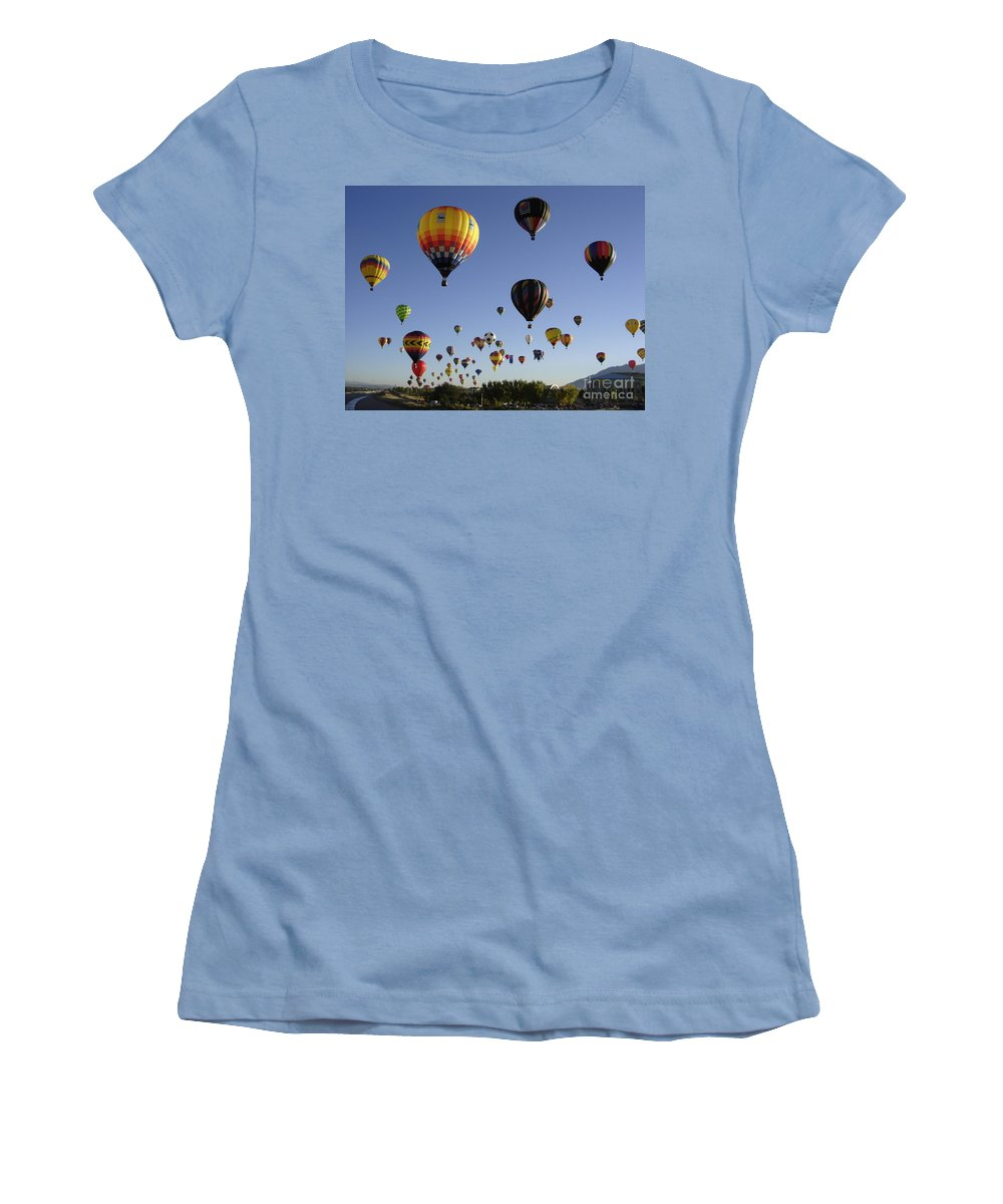 Flight Women's T-Shirt (Athletic Fit) featuring the photograph Big Balloons by Mary Rogers