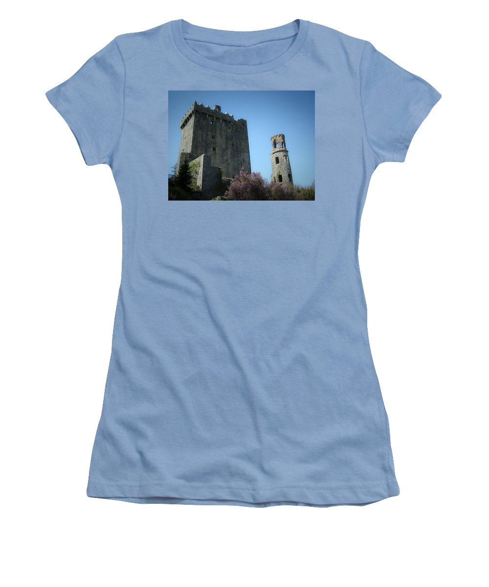 Irish Women's T-Shirt (Athletic Fit) featuring the photograph Blarney Castle And Tower County Cork Ireland by Teresa Mucha