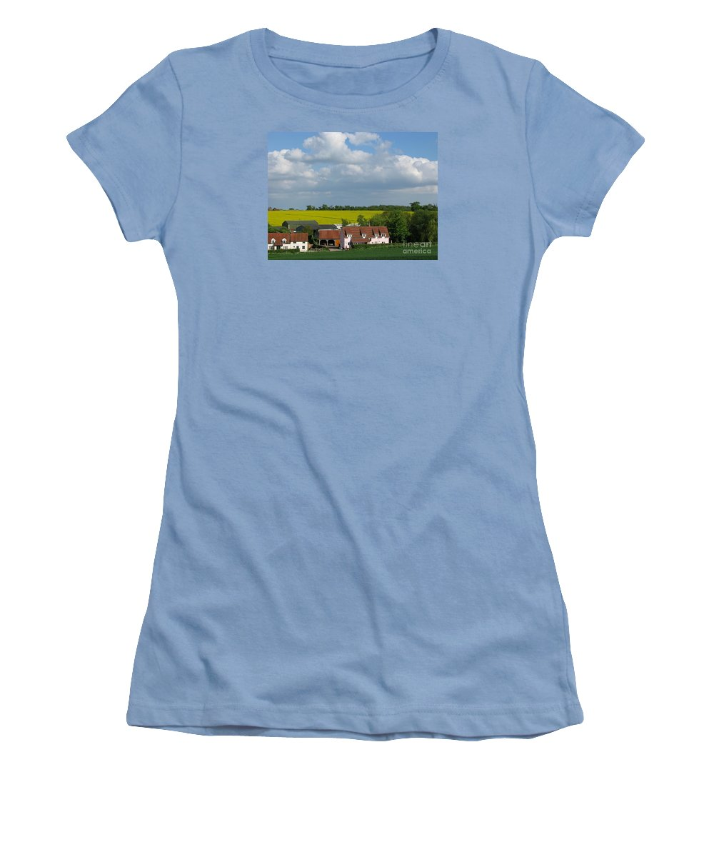 Cloud Women's T-Shirt (Athletic Fit) featuring the photograph Cloud Cover by Ann Horn