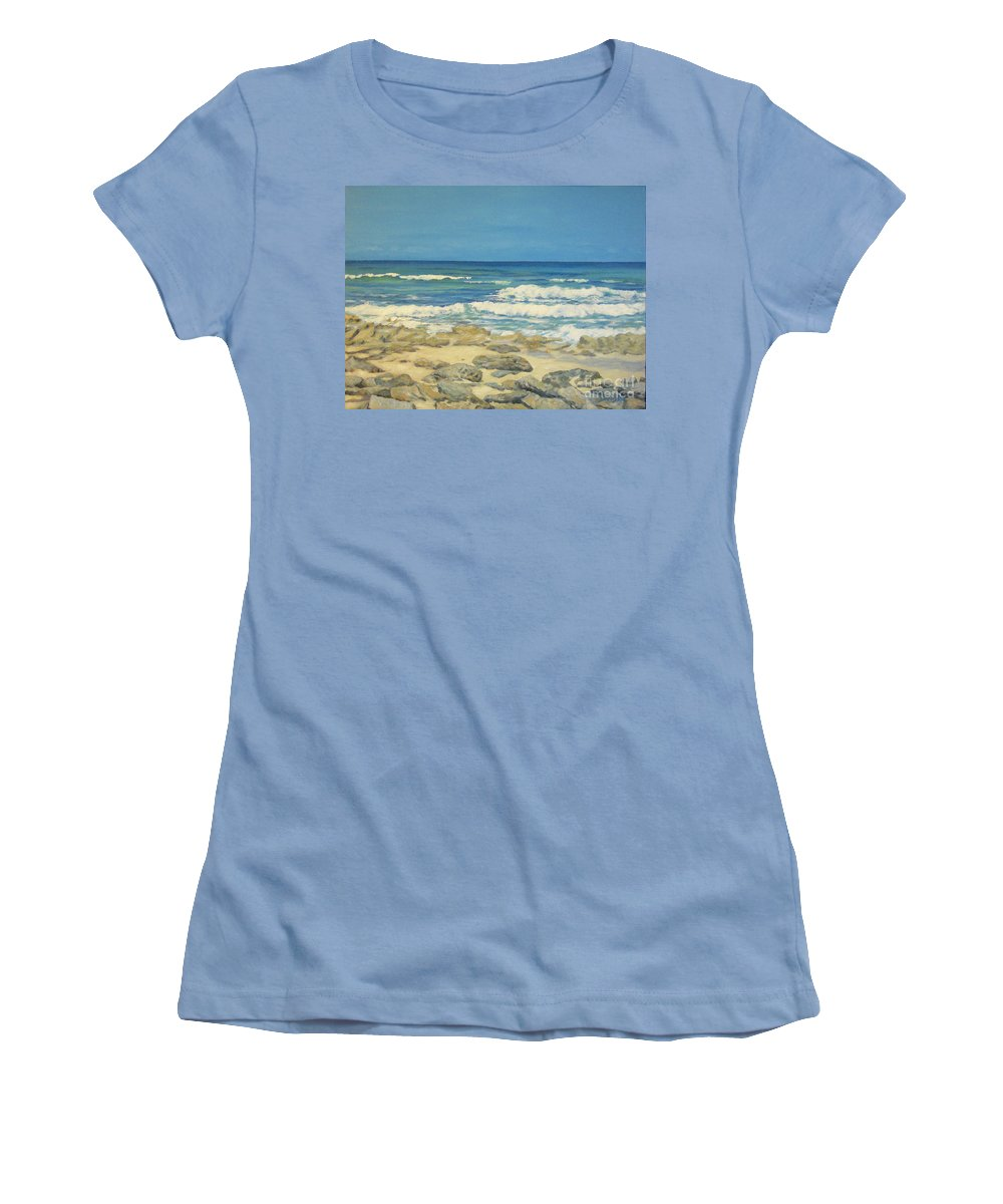 Compass Cay Women's T-Shirt (Athletic Fit) featuring the painting Compass Cay by Danielle Perry