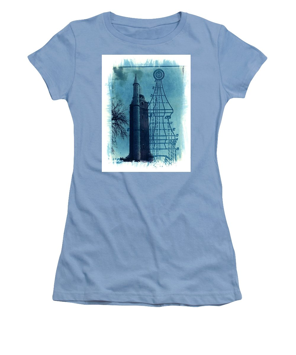 Alternative Process Photography Women's T-Shirt (Athletic Fit) featuring the photograph Compton Blueprint by Jane Linders