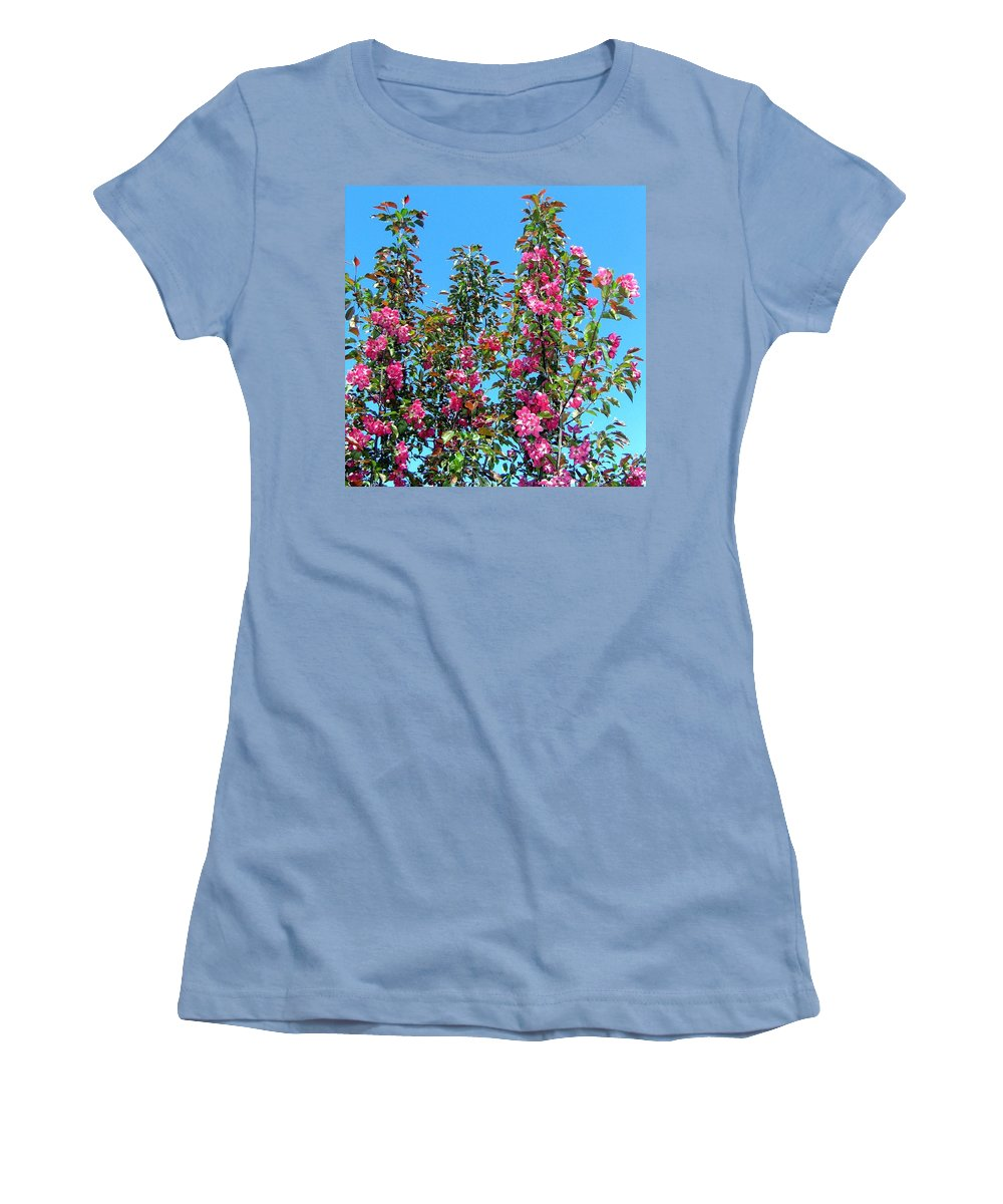 Crab Apple Blossoms Women's T-Shirt (Athletic Fit) featuring the photograph Crab Apple Blossoms by Will Borden