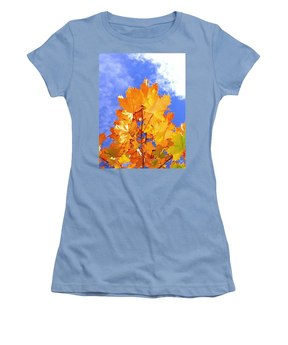 Maple Leaves Women's T-Shirt (Athletic Fit) featuring the photograph Crown Of Gold by Will Borden