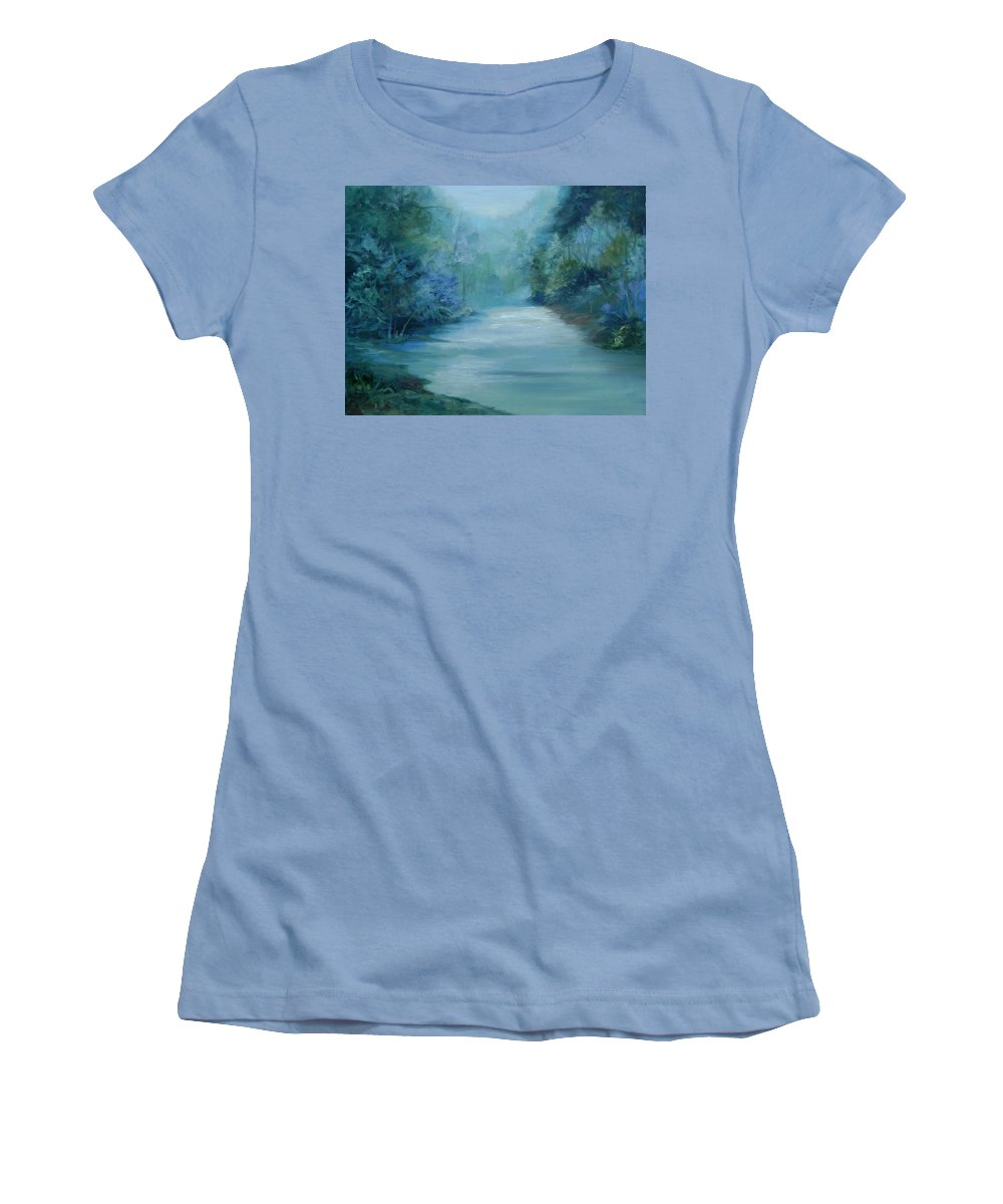 Burton River Georgia Women's T-Shirt (Athletic Fit) featuring the painting Dreamsome by Ginger Concepcion