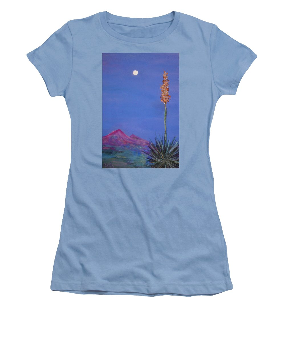 Evening Women's T-Shirt (Athletic Fit) featuring the painting Dusk by Melinda Etzold