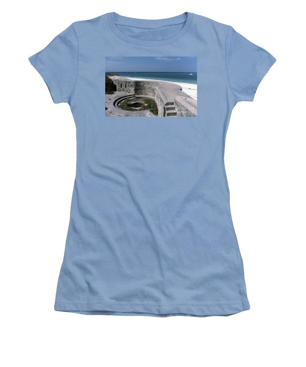 Beaches Women's T-Shirt (Athletic Fit) featuring the photograph Egmont Key by Richard Rizzo
