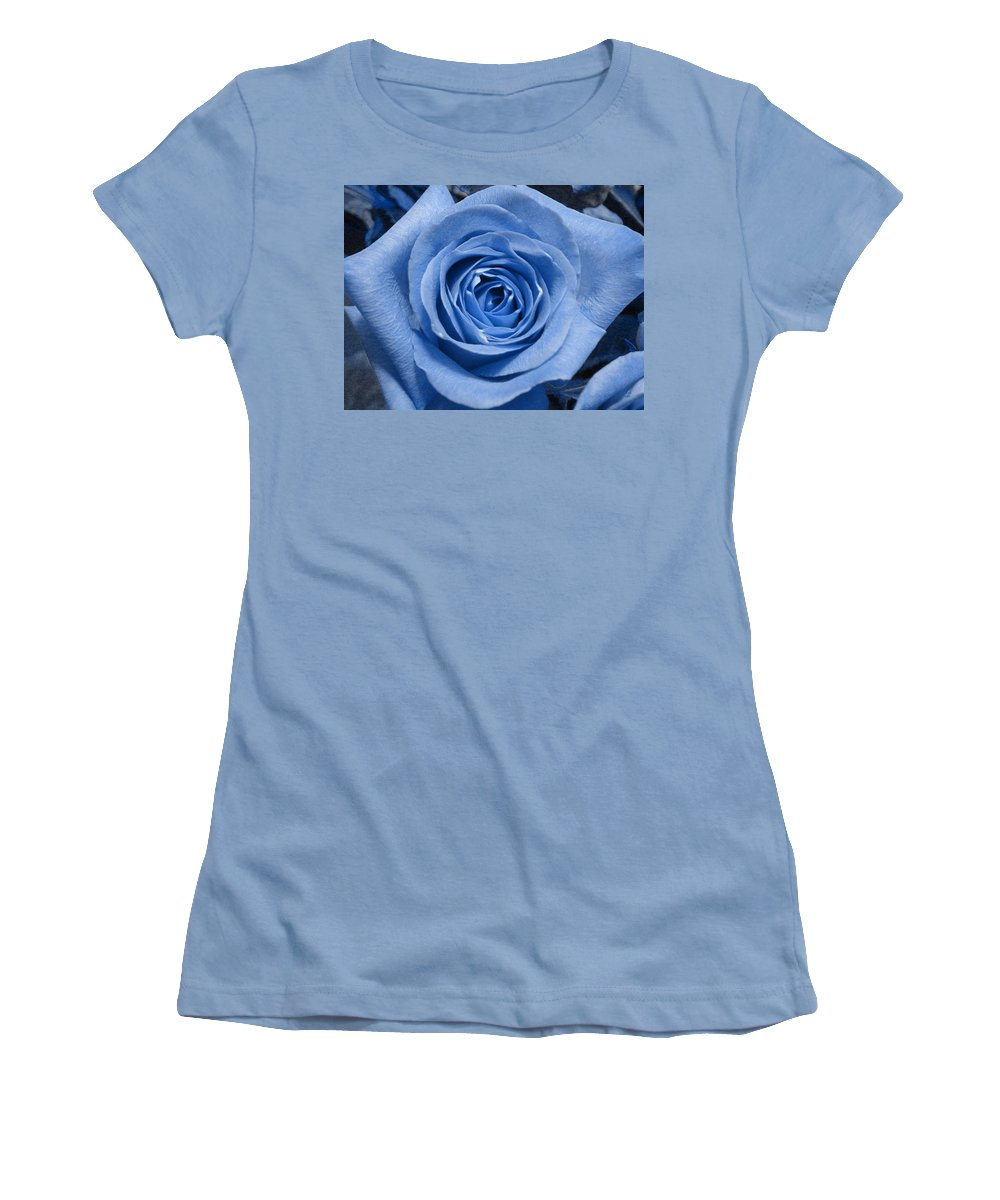 Rose Women's T-Shirt (Athletic Fit) featuring the photograph Eye Wide Open by Shelley Jones