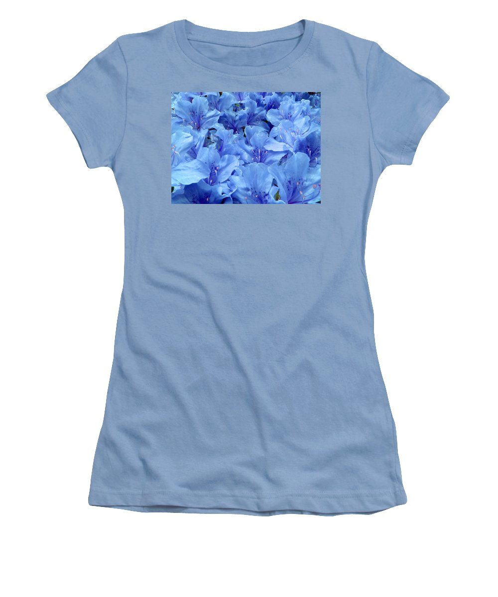 Azalea Women's T-Shirt (Athletic Fit) featuring the photograph Fantasia Azalea by Daniel Csoka