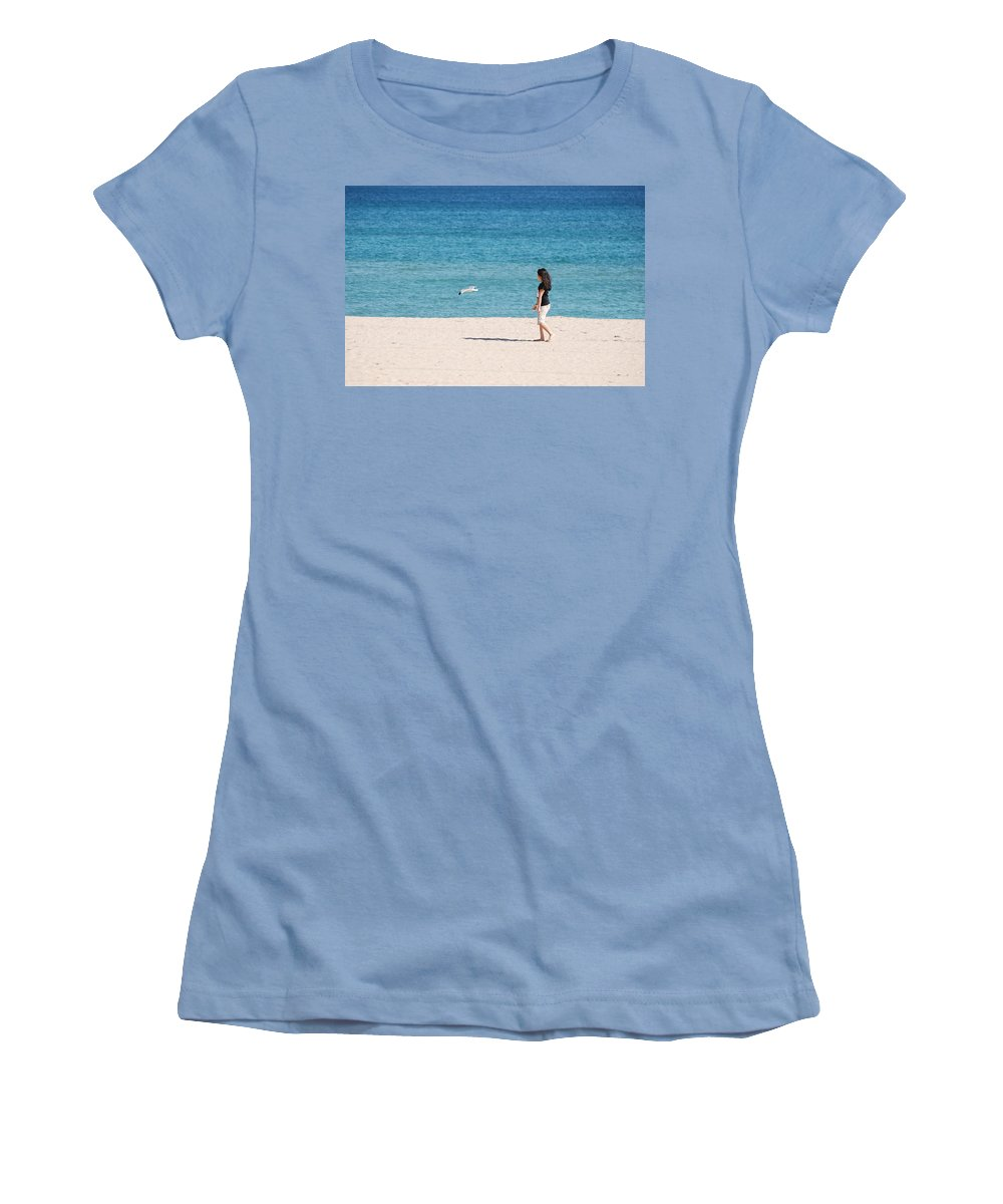 Ocean Women's T-Shirt (Athletic Fit) featuring the photograph Flight Of The Angel by Rob Hans